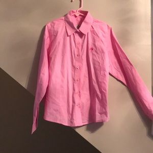 LILLY PULITZER girls  SZ 8 button down blouse VGUC